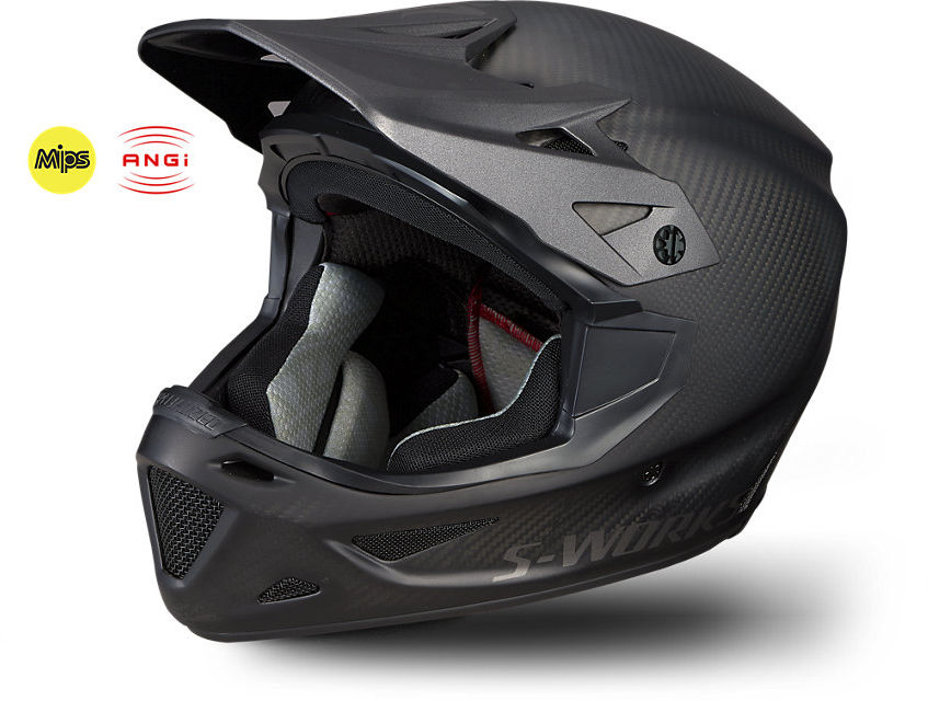SPECIALIZED S-Works Dissident with ANGi Matte Rå Carbon Cykelhjelm | Helmets